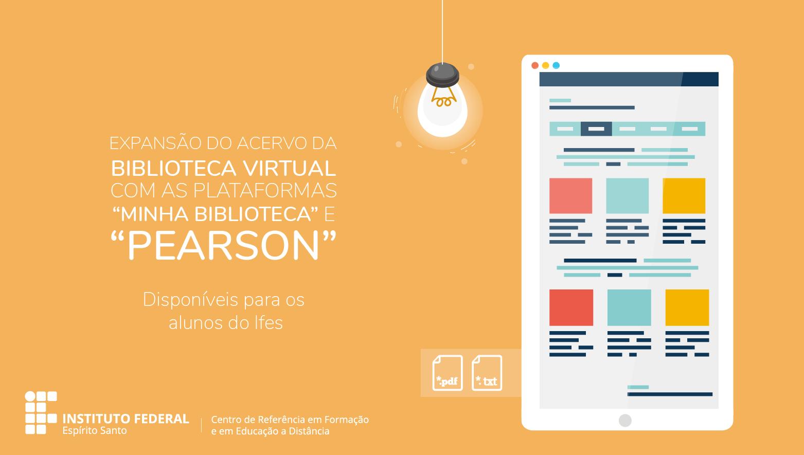 Novas plataformas são inseridas na Biblioteca Virtual do Ifes