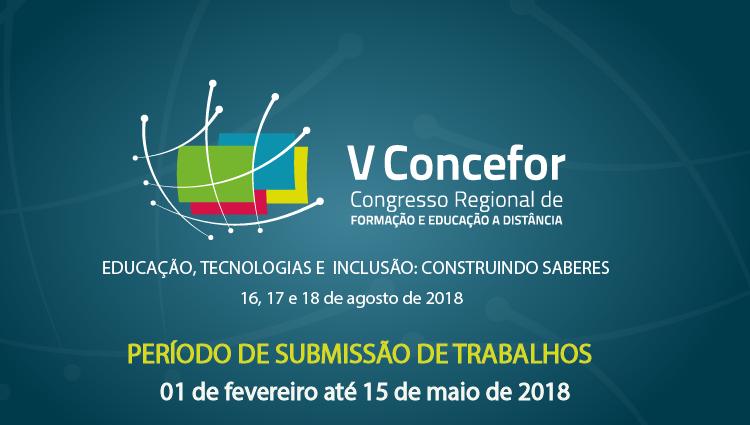 Submissão de trabalhos para o V Concefor começa dia 01/02